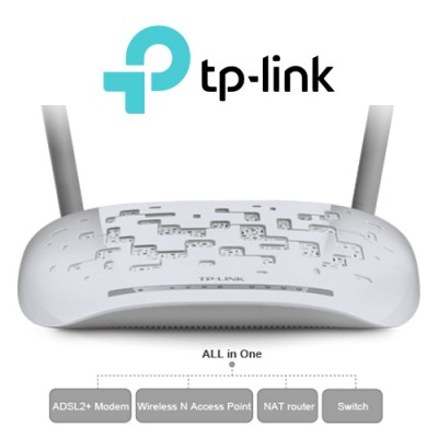 Tp-Link TD-W8961N 4 Port 300Mbps Kablosuz N ADSL2+ Modem
