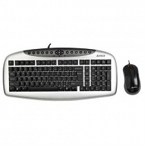 A4 Tech KB-2150D Klavye + Optik Mouse Set USB Siyah