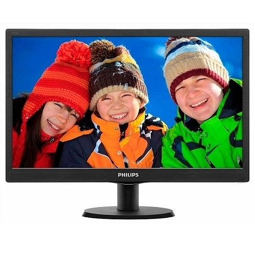 "Philips 193V5LSB2/62 18.5"" 60Hz 5ms (Analog) W-LED LCD HD Monitör"