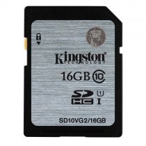 Kingston 16GB Class10 45MB/s UHS-I SDHC Hafıza Kartı SD10VG2/16GB