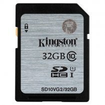 Kingston 32GB Class10 45MB/s UHS-I SDHC Hafıza Kartı SD10VG2/32GB