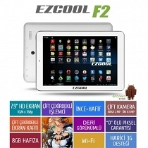 "Ezcool F2 8GB Dual Core 7.9"" HD Beyaz Tablet"