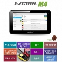 "Ezcool M4 8GB Quad Core 7"" HD Siyah Tablet"