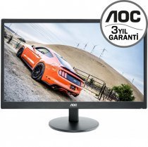 "AOC E2270SWHN 21.5"" 1920x1080 5ms 60Hz WIDE (Analog HDMI) Full HD Vesa Siyah Monitör"