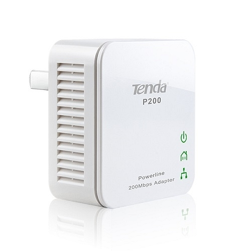 Tenda P200 Homeplug 1 Port 200Mbps Kablolu Mini Powerline Ağ Adaptörü