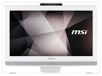 "MSI PRO 20ET 6M-009XTR Intel Core i3-6100 3.7GHz 4GB 1TB 19.5"" HD+ Dokunmatik FreeDos Beyaz All In One Bilgisayar"