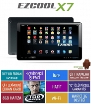 "Ezcool X7 8GB Quad Core 10.1"" Hd Siyah Tablet"