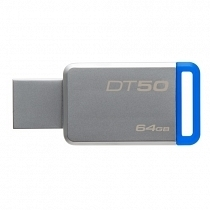 Kingston DataTraveler 50 64GB USB 3.1 Mavi USB Bellek DT50/64GB