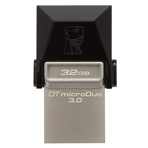 Kingston DTDUO3/32GB DataTraveler MicroDuo 32GB USB 3.0 OTG 70MB/s-15MB/s USB Flash Bellek