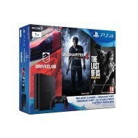 Sony Playstation 4 1TB PAL Slim Oyun Konsolu + Uncharted 4 + Drive Club + The Last Of Us (Üç Oyunlu Paket)