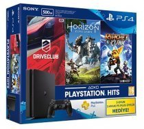 Sony PS4 500GB Slim Kasa Oyun Konsolu+Horizon Zero Dawn+Driveclub+Ratchet And Clank+3 Aylık PS Plus Üyelik Hediye(Sony Eurasia Garantili)