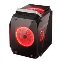 GAMEPOWER HELIOS RED LED xCube Full Tower Tempered Glass 2x200mm LED Fan Siyah Gaming (Oyuncu) Kasa