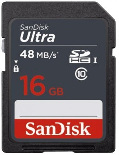 SanDisk 16GB Ultra SDHC UHS-I 48Mb/s SDSDUNB-016G-GN3IN SD Bellek Kartı