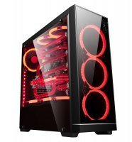 GamePower Hypnos Gaming 3*120mm Kırmızı Ring Fanlı Tempered Glass Yan Panel Mid ATX Kasa
