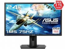 "Asus VG245H 24"" Full HD FreeSync 75Hz 1ms 2xHDMI/Analog Gaming (Oyuncu) Monitör"