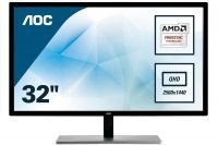 "AOC Q3279VWF 31.5"" QHD D-SUB DVI HDMI DP 5ms 75Hz 2K Gaming Led Monitör"
