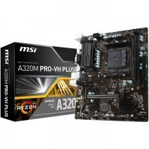 MSI A320M PRO-VH Plus AMD A320 Soket AM4 DDR4 3200(OC)MHz mATX Gaming Anakart