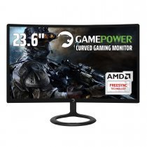 GamePower GPR24C144 Curved Gaming Monitör 23.6'' 1ms 144Hz FreeSync Samsung VA Panel Sıfır Ölü Piksel Garantili DP1.2 HDMI DVI-D AUDIO