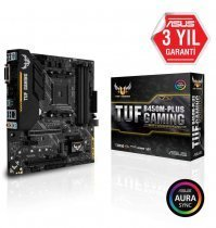 Asus TUF B450M-Plus Gaming AMD B450 Soket AM4 DDR4 4400(OC)MHz mATX Gaming Anakart