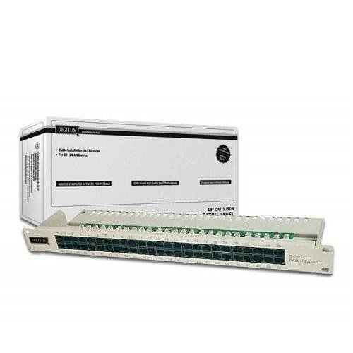 Digitus DN-91350-1 19 inç 50 Port CAT-3 Isdn Patch Panel, Zırhsız