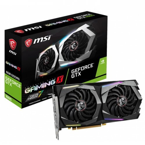 MSI GeForce GTX 1660 Gaming X 6G GeForce GTX 1660 6GB GDDR5 192Bit DX12 Gaming Ekran Kartı