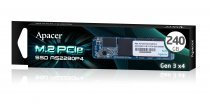 Apacer AS2280P4 240GB 1600/1000 MB/s PCIe M.2 SSD Disk - AP240GAS2280P4-1