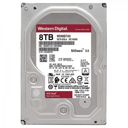 "WD Red WD80EFAX 8TB 3.5"" 5400RPM 256MB Sata 3 NAS Harddisk"