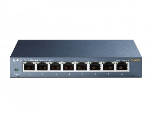 Tp-Link TL-SG108 8 Port 10/100/1000Mbps Çelik Gigabit Switch