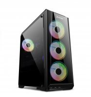GamePower Crimson Guard 500W +80 Bronze Dahili PSU' lu 4x120mm ARGB Fan Gaming ATX Kasa