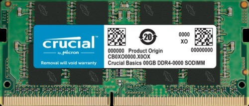 Crucial Basics SODIMM CB4GS2400 4GB (1x4GB) DDR4 2400MHz CL17 Notebook Ram