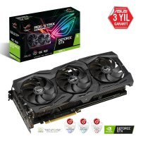 Asus Rog Strix GTX-1660Ti-O6G-Gaming GeForce GTX 1660Ti OC Edition 6GB GDDR6 192Bit DX12 Gaming Ekran Kartı