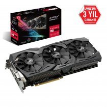 Asus Rog Strix RX 590 8G Gaming 8GB GDDR5 256Bit DX12 Gaming Ekran Kartı
