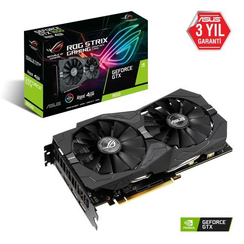 Asus ROG-Strix-GTX1650-A4G-Gaming GeForce GTX 1650 4GB GDDR5 128Bit DX12 Gaming Ekran Kartı