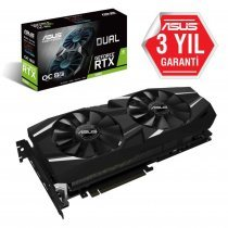 Asus Dual-RTX2080-O8G GeForce RTX 2080 OC Edition 8GB GDDR6 256Bit DX12 Gaming Ekran Kartı