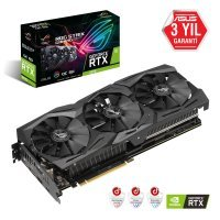 Asus ROG-Strix-RTX2070-O8G-Gaming GeForce RTX 2070 8GB GDDR6 256Bit DX12 Gaming Ekran Kartı