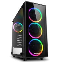 Sharkoon TG4 RGB USB 3.0 Temperli Cam ATX Mid-Tower Gaming Kasa