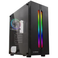 Rampage Spectra USB 3.0 Temperli Cam Rainbow Fan LED'li Mid Tower Gaming(Oyuncu) Kasa