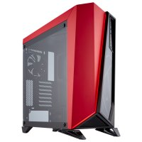 Corsair Carbide Spec-Omega CC-9011120-WW 120mm LED Fan Temperli Cam USB 3.0 Siyah-Kırmızı ATX Mid-Tower Gaming Kasa