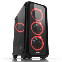 Zalman Z7 Neo 700W RGB LED 120mm Fan Temperli Cam Siyah ATX Mid-Tower Gaming Kasa