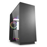 Sharkoon Pure Steel RGB USB 3.0 Temperli Cam ATX Siyah Mid Tower Gaming Kasa