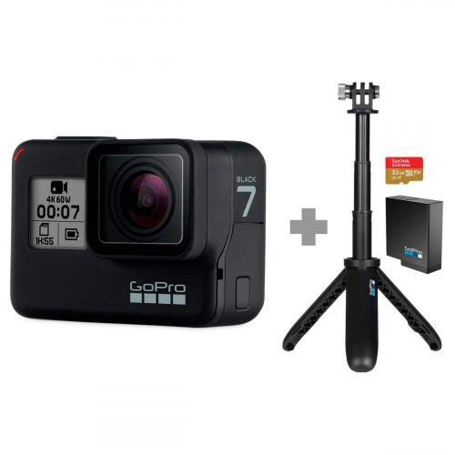 GoPro Hero7 Black Aksiyon Kamerası + Holiday Bundle Seti - 5GPR/CHDRB-701