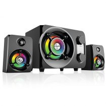 Rampage RMS-G8 2+1 25W Bluetooth+USB-SD-FM Siyah Rainbow Led Işıklı Gaming Speaker
