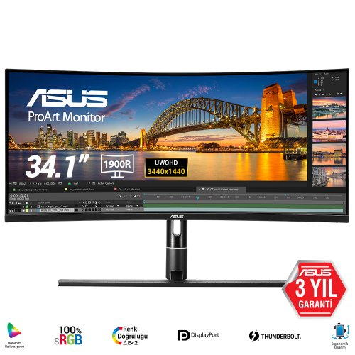 "Asus ProArt PA34VC 34"" 5ms 100Hz Adaptive-Sync Flicker-Free IPS UWQHD Curved Monitör"