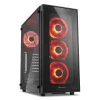 Sharkoon TG5 Red USB 3.0 Kırmızı LED Fan Temperli Cam ATX Mid-Tower Gaming Kasa