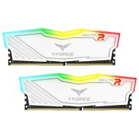 Team T-Force Delta RGB 16GB (2x8GB) DDR4 3200MHz CL16 Beyaz Gaming Ram - TF4D416G3200HC16CDC01
