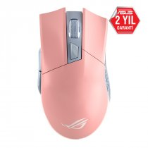 Asus ROG Gladius II Origin PNK LTD 12000DPI 6 Tuş RGB Optik USB Pembe Kablolu Gaming Mouse