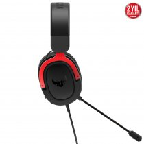 Asus Tuf Gaming H3 Red 7.1 Surround 3.5mm Kablolu Gaming (Oyuncu) Kulaklık
