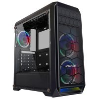 Everest Metafor K700 3x12cm Rainbow Fanlı USB 3.0 ATX Mid-Tower Gaming Kasa