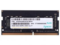 Apacer 4GB (1x4GB) DDR4 2400Mhz CL17 SODIMM Notebook Ram