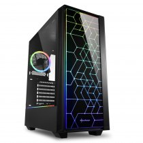 Sharkoon RGB-LIT-100 USB 3.0 RGB ATX Mid-Tower Gaming (Oyuncu) Kasa
